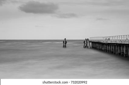 Jetty Over A Wide Sea