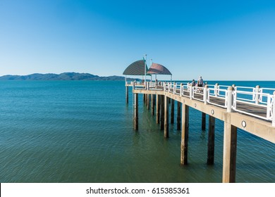 The jetty / pier on The Strand, Townsville, Queensland, Australia on a warm summer day