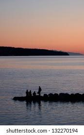jetty silhouette