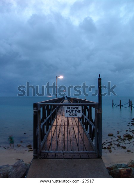 Jetty in the storm