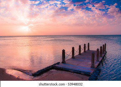 jetty sunrise