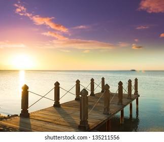 Jetty to sunrise Paradise