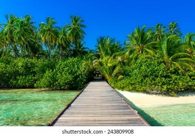 jetty to tropical island