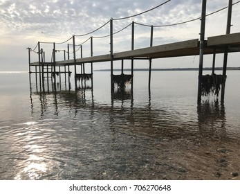 Jetty in the water