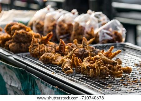 Jeun Teen Gai Thai Style Fried Chicken Stock Photo Edit Now
