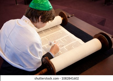 Jew Boy Reading from Torah