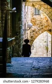 Jew walkin in Jerusalem