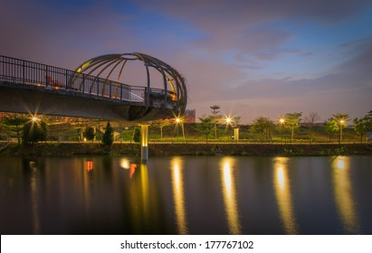 Jewel Bridge  at Punggol Waterways, Singapore