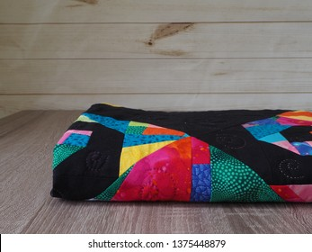 Jewel Tone Hand Quilted Patchwork Quilt