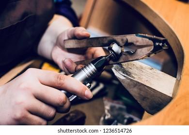 Jeweler polishing ring