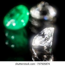 jeweler's jewel on a black background