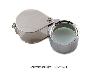 jewelers magnifying glass on a white background