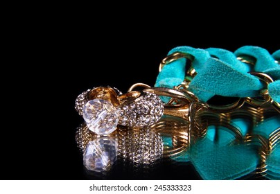jewelery isolated on the black