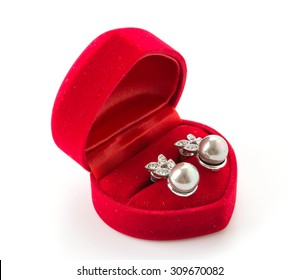 jewelry box on white background