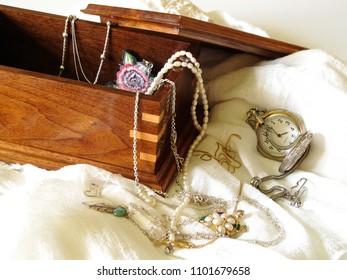 In the Jewelry Box, Silver, Gold and Fresh Water Pearls, Timeless Heirlooms