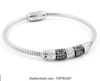 Jewelry Bracelet - Stainless Steel - One color background