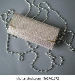 Jewelry diamond ring on the grey background.