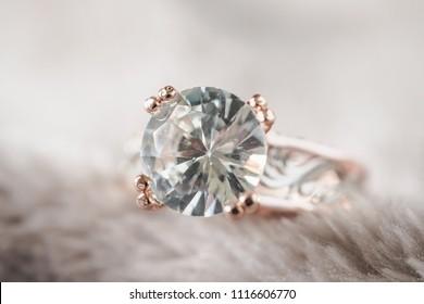 Jewelry luxury silver diamond ring background