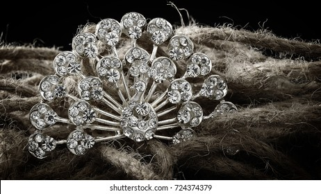 jewelry on a rustic background