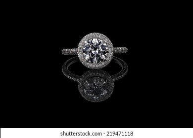 Jewelry ring on a black background.