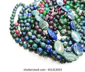 jewelry semiprecious beads made of geological minerals
