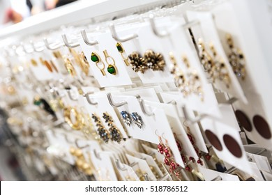 jewelry store - closeup of earrings stand