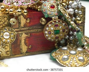 jewels in the jewelry box