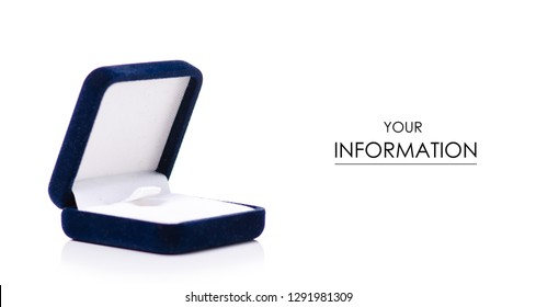 Jewerly box for ring pattern on white background isolation