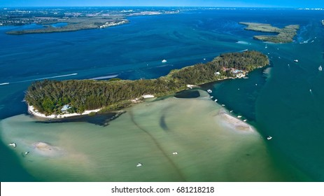 Jewfish Key Aerial Drone Picture in Sarasota Florida Sandbar