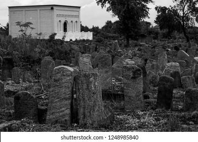 Jewish cemetery at Medzhybizh, Ukraine, where the rabbi Baal Shem Tov is burried