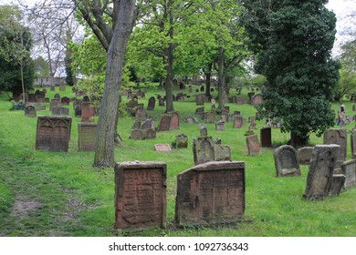 The Jewish Cemetery in Worms or Heiliger Sand, in Worms, Germany is usually called the oldest surviving Jewish cemetery in Europe. The oldest tombstone still legible dates from 1058
