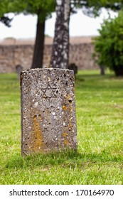 Jewish gravestone in a concentration camp Mauthausen