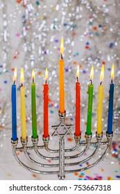 Jewish holiday hannukah , the Jewish Festival of Lights Jewish Holiday symbol