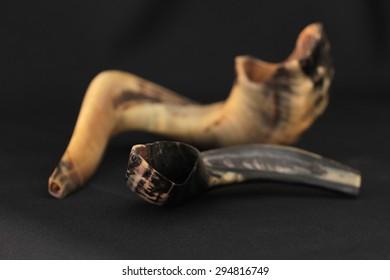 jewish horn shofar on Beautiful background