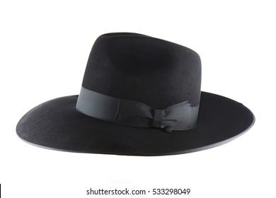 Jewish litvak hat isolated on white background