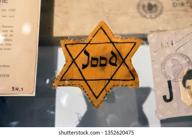 Jewish Star At The Exhibition At The Holocaust Museum Amsterdam The Netherlands 20019
