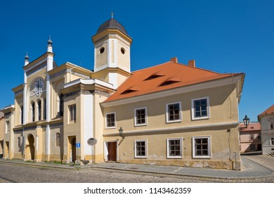 Jewish synagogue in Zatec town. Czech Republic.