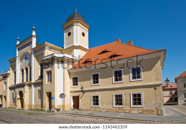 Jewish synagogue in Zatec town. Czech Republic.