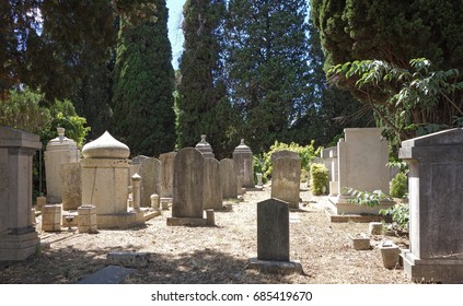 Jewish tombs in the Verano cemetery in Rome, Italy