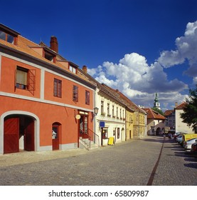 Jewish town in Trebic (Moravia, Czech Republic). UNESCO protected the oldest Middle ages settlement of jew community in Central Europe.