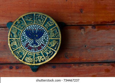 a Jewish trivet of the 12 tribes of Isreal