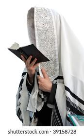 Jews in prayer at the Western Wall during Jewish holiday of Sukkot