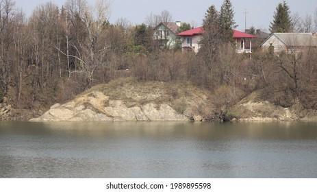 jezioro sieniawkie or zalew sieniawski, artifictal lake in Poland