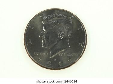 JFK 50 cent piece coin