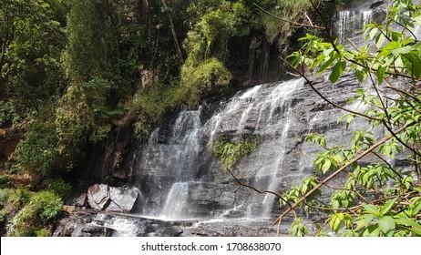 Jhari waterfall cascade step waterfall no people stockphoto