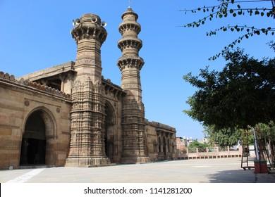 Jhulta minara (hanging minarets) ahmedabad
