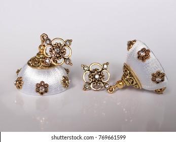 Jhumka Earrings Indian Fashion Silk Thread Jewelry