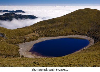 Jiaming Lake,beautiful lake formed by meteorite fallen to the earth.