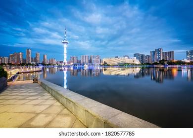 Jiangsu Yancheng Julong Lake Park City Architecture Landscape Sk