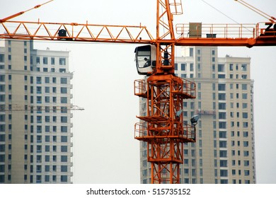 JIANGXI CHINA- June 20, 2013: construction workers in the construction of real estate projects in commercial real estate projects. In recent years, China's housing prices continued to rise crazy.